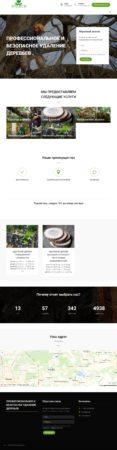 Сайт визитка «Удаление деревьев»